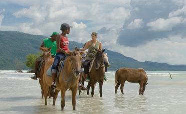 jamaica, horseback