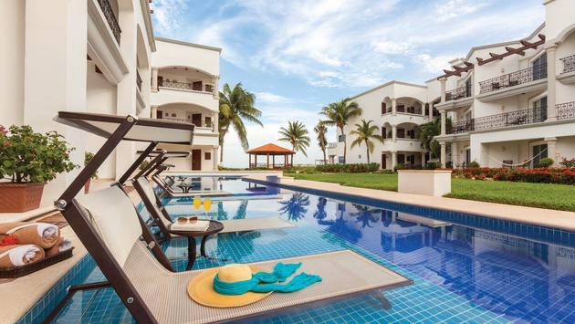 Poolside at Hilton Playa del Carmen, Playa Del Carmen, Mexico.
