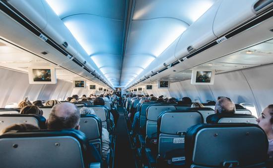 View From Inside Air Transat Airplane of the Back Seats (Photo via aetb / iStock Editorial / Getty Images Plus)