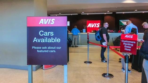 car, rental, avis