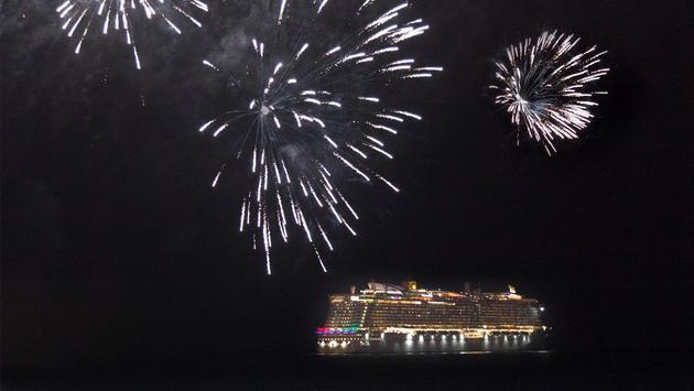 fireworks over Costa Smeralda