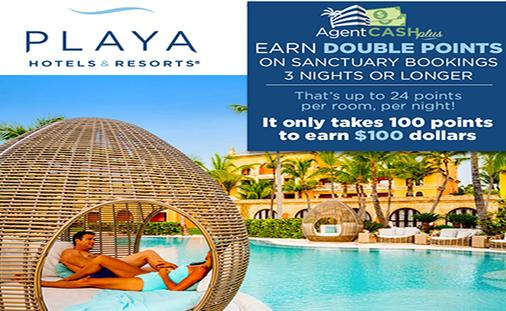 Earn up to $100 Extra Per Booking at Playa's Resorts in the DR