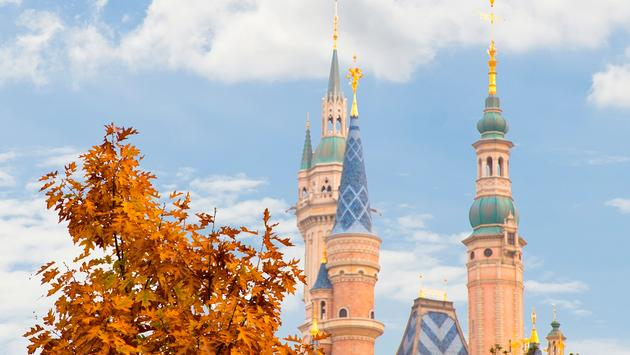 Shanghai Disney Resort in autumn