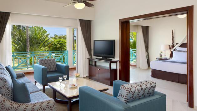 Suite Living Area at Hilton La Romana Adults Resort