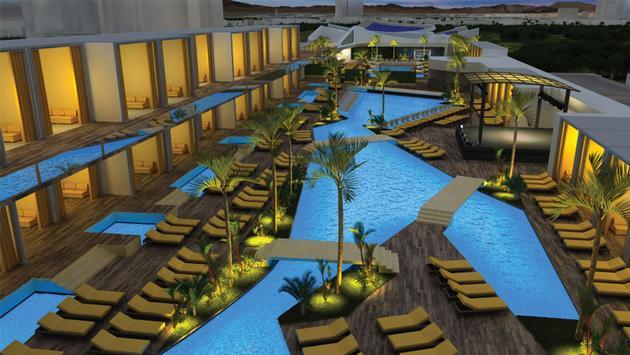 Pool area at Majestic Las Vegas