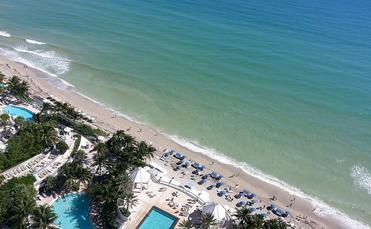 The Hollywood, Florida shoreline