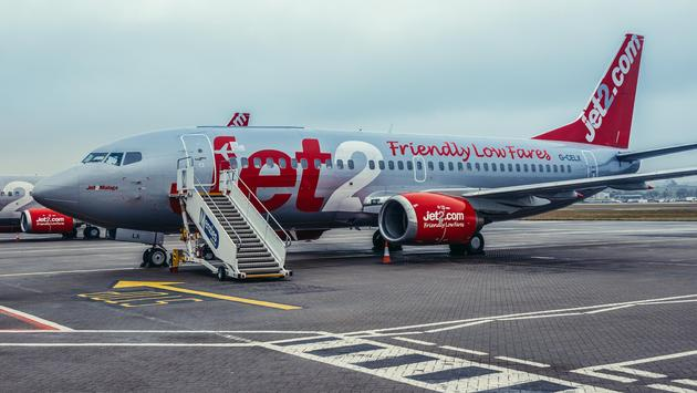Jet2 Boeing 737 at Edinburgh Airport