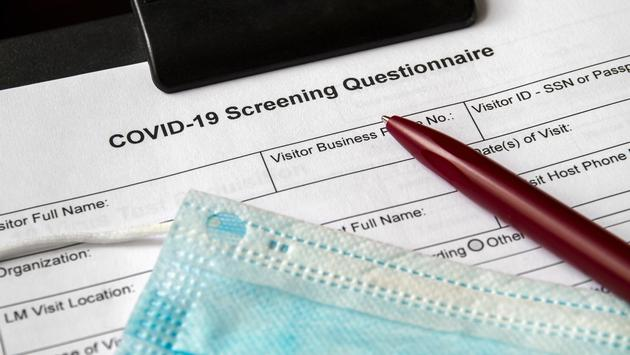 COVID-19 Screening Questionnaire.