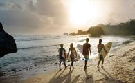 surfing in Bathsheba, Barbados