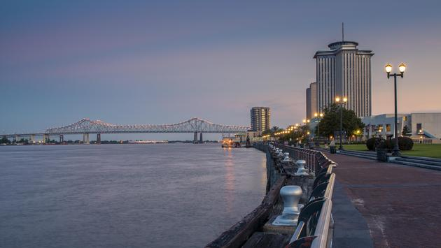 View of the Mississippi River from the New Orleans Riverfront