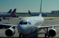 American Airlines plane parked at Charlotte Douglas International Airport