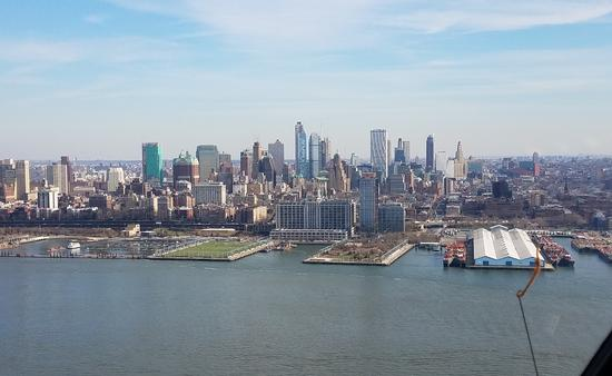 Exploring New York City on a helicopter tour