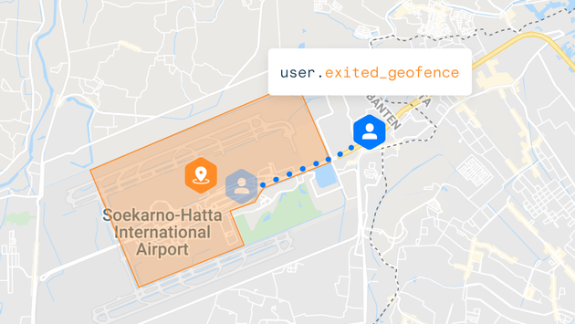 Example of a geofence created by Radar Labs, Inc.