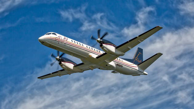 PenAir Saab 2000 aircraft mid-flight