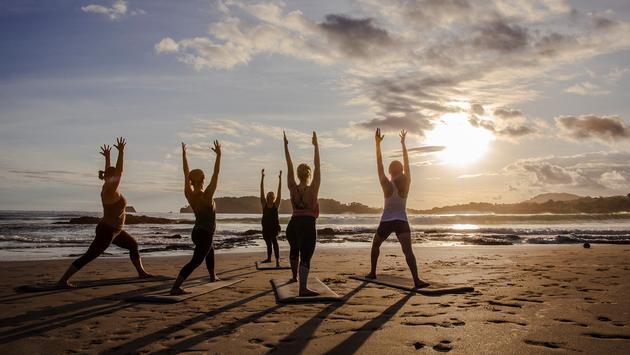 Sunset yoga, Costa Rica