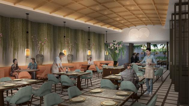 La salle à manger du futur Shang Social