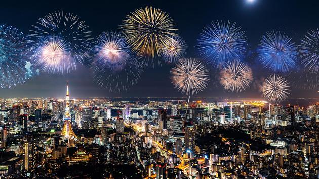 Fireworks above Tokyo