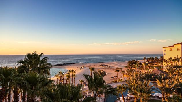Sun rising over the Sea of Cortez in Los Cabos, Mexico