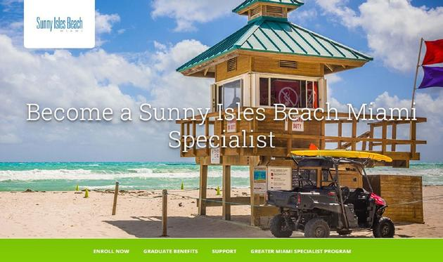 Lifeguard station in Sunny Isles Beach