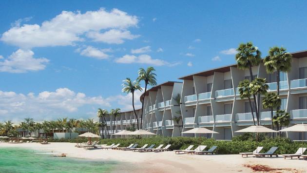 The luxurious new Hilton property, Conrad Tulum, in Mexico.