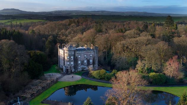 Cloncaird Castle on 140 acres, Ayrshire, Scotland.