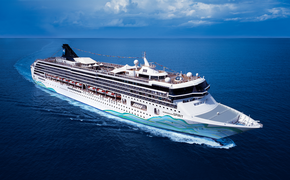 Aerial rendering of the renovated Norwegian Spirit