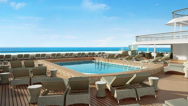 Rendering of the adults-only retreat, Spice H2O aboard Norwegian Spirit