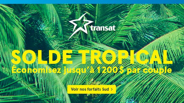 Solde tropical de Transat