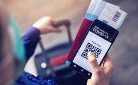 Mobile app displaying QR code linked to traveler