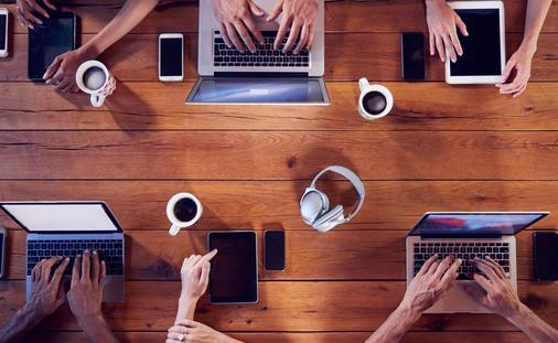Millennials computer laptop travel agent