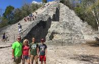 ancient Coba pyramid in Mexico