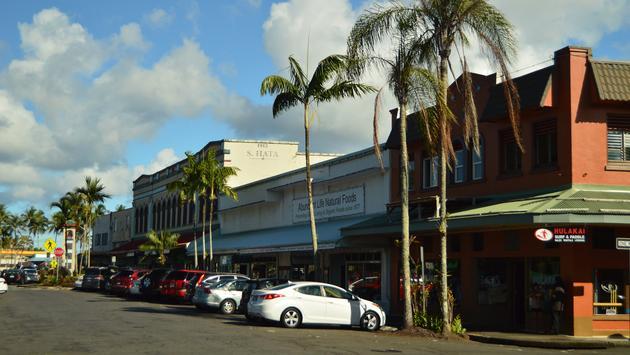 City street in Hilo