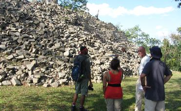 Belize Lubaatan archeaological site