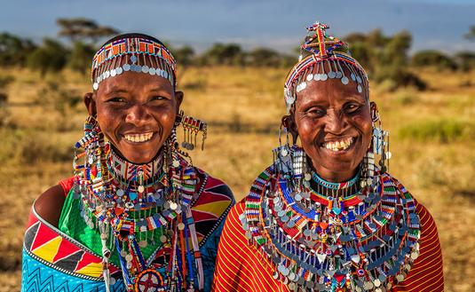 Women of the Samburu Tribe in Kenya.