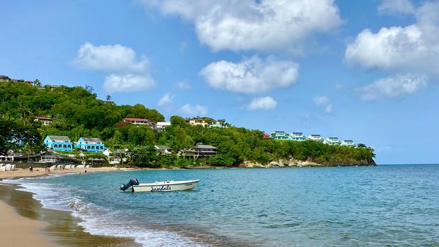 The beach at Sandals Regency La Toc