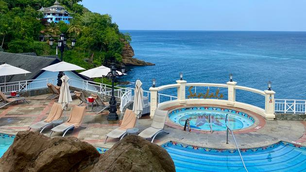 Swimming pool at Sandals Regency La Toc