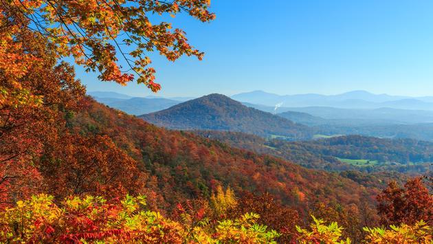 Blue Ridge Parkway near Asheville, North Carolina.