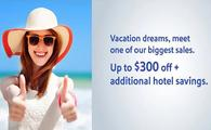 October Foundational Sale – Vacation dreams, meet one of our biggest sales. Save up to $250 with promo code