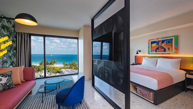 Suite at Moxy South Beach.