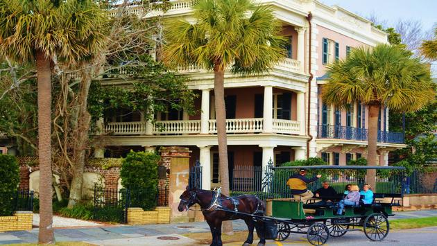Take a horse-drawn carriage ride through Charleston's historic district.