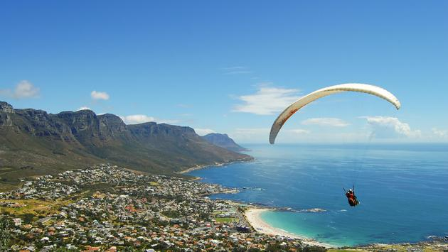 Paragliding over Cape Town, South Africa
