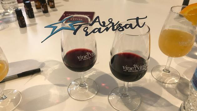 Wine Tasting With Air Transat