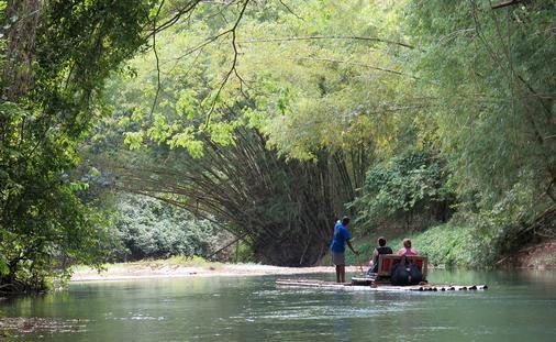 Rafting the Martha Brae River in Jamaica