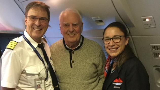 On 21 Air Transat flights, one passenger, like this man on Air Transat flight TS293 from Manchester to Toronto, won a pair of tickets anywhere Air Transat flies.