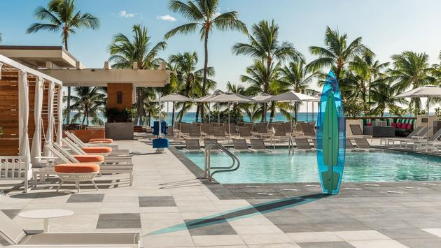 The new Queensbreak pool and amenity deck at Waikiki Beach Marriott Resort & Spa.