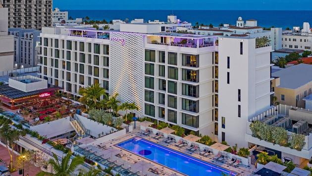 Exterior view of Moxy South Beach.