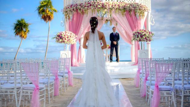 The outdoor wedding gazebo at Paradisus Playa del Carmen.