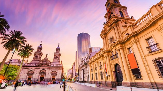 Plaza de Armas in Santiago de Chile