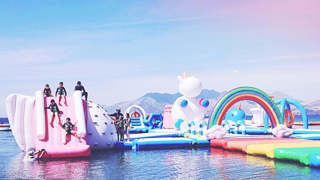 The Inflatable Island theme park has a whole floatable island dedicated to unicorns.