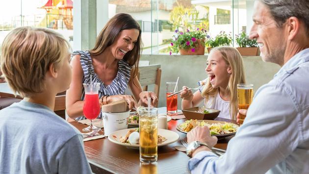 Family Eating at Ventus at Marina El Cid Spa & Beach Resort